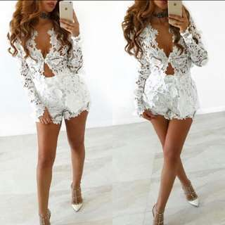 White Lace Co-ord Set