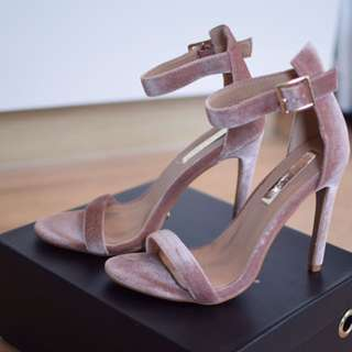 Brand New - Billini Faux Suede Sandal Heels - 6