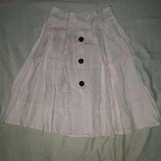 (Repriced) Zara Basic White Button Down Skirt