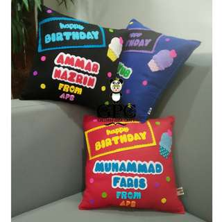 Customised Felt Pillow (Happy Birthday)