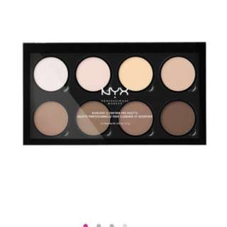 Nyx contour and highlight palette