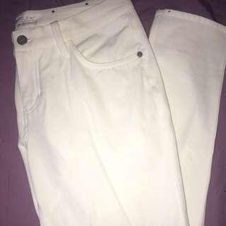 (6) White Nike Golf Pants