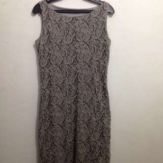 Rose Gray Dress
