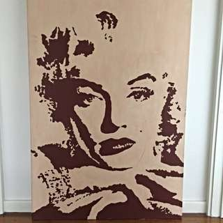 Original Marilyn Munroe Canvas Art, Acrylic On Canvas