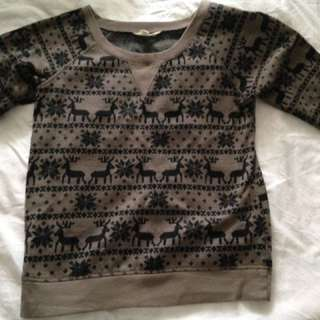 Christmas Print Jumper