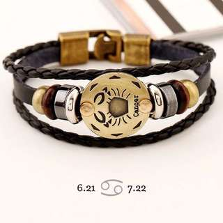 Cancer star sign bracelet