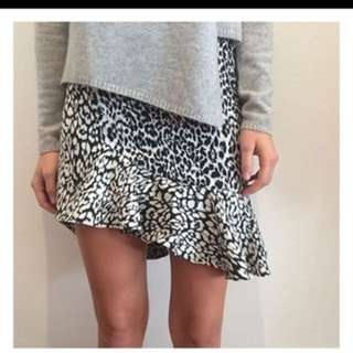 Bec and Bridge Snow Leopard skirt size 8