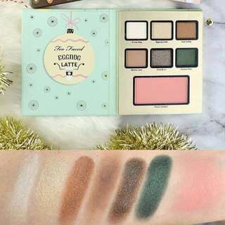 too faced egg nog palette