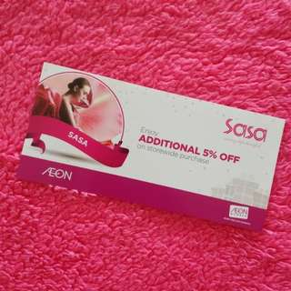 Sasa Additional 5% OFF voucher