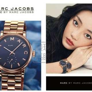 錶現亮眼 MARC BY MARC JACOBS MBM3330 典雅湛藍玫瑰金色腕錶/手錶 美國正品 現貨 免運