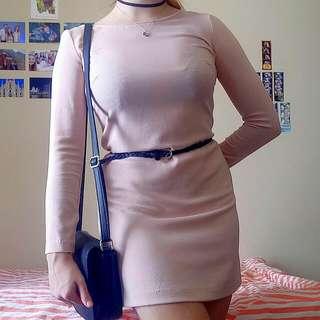 Cute Rose/Nude Dress  - Size 8 American Apparel