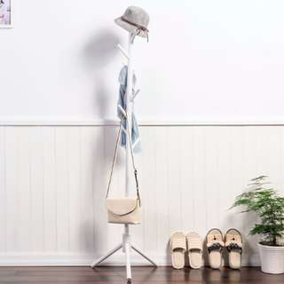Round Wooden Clothes Hanger Coat Stand *3-Mins Easy Installation