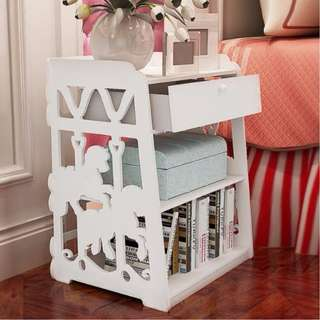 Carousel-designed Bedside Table
