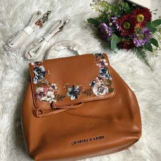 Charles & Keith embroidered bpack