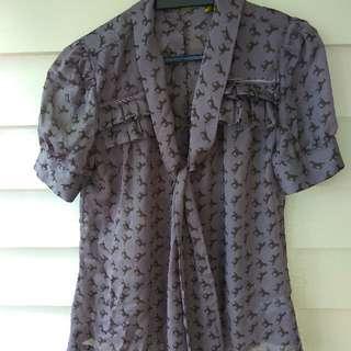 Horse Print purple Shirt Size 10