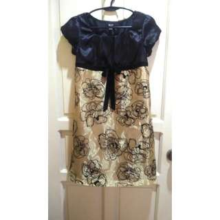 Black and gold girl's dress