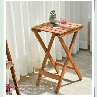 Outdoor Solid Wood Folding Table