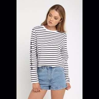 90s Striped Long Sleeve Shirt