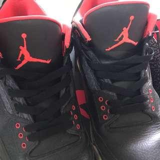 US10 Air Jordan 3 Retro Bright Crimson