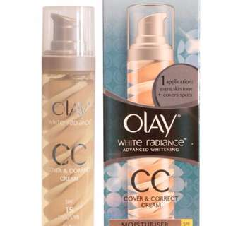 NEW OLAY WHITE RADIANCE Cover and Correct CREAM ADVANCE WHITENING SPF