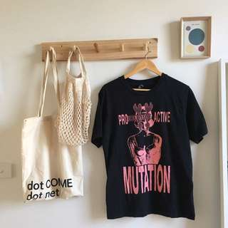 Perks & Mini Black Tee With Pink Graphic
