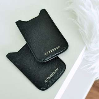 Burberry Black Leather iPhone 5 Pouch (1375-10)