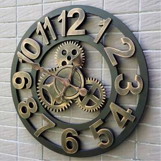 Gold Retro Wall Clock