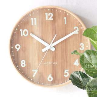 Nordic Style Birch Wood Wall Clock