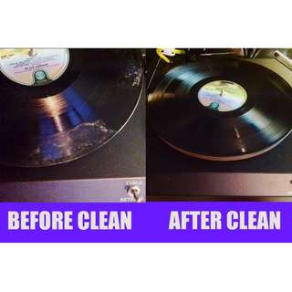 "LP Vinyl 12"" 10"" 7"" record cleaning cleaner service no minimum hand-washed non-machine"