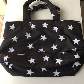Chocoolate 黑白星星手袋