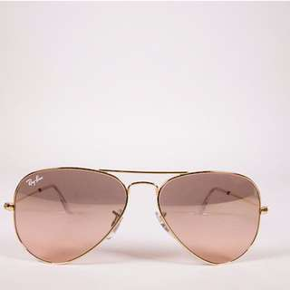 Pink&Gold Ray Ban Aviator Sunglasses