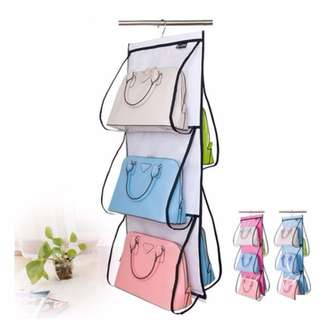 5 Pockets Shelf Bags Hanging Handbags Organizer