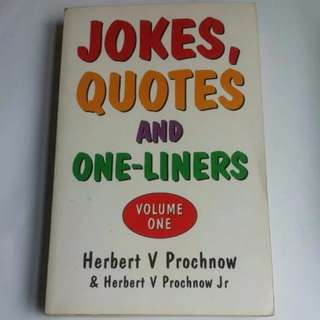 Book - Jokes, Quotes and One-liners Volume 1