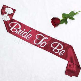 [Exclusive] Glitters Bride to Be Maroon Wedding Sash