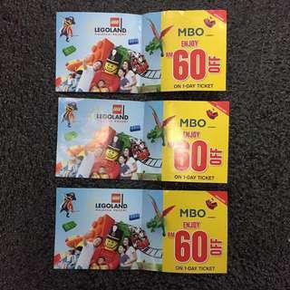 Legoland rm60 off