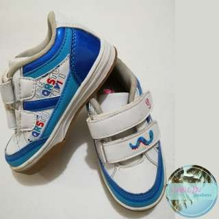 White and blue kids boys shoes Fisher Price
