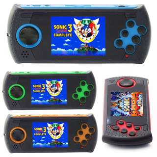 SEGA HAND HELD GAME COMES WITH 100 PRELOADED AND 8GB CARD WITH 500 MORE