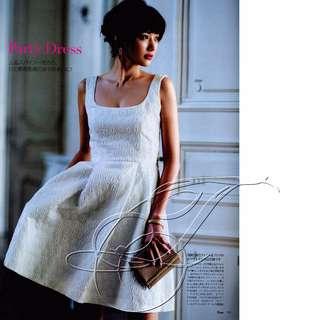 A|X Armani Exchange 立體刺繡 鱷魚紋 駝色 日常優雅洋裝 (133)