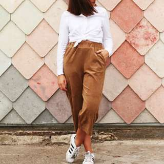H&M Suede culottes