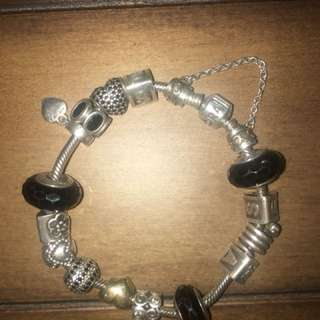 Full Pandora Charm Bracelet