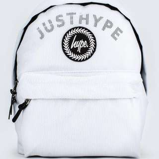 Hype 全網狀Just Hype 白色後背包
