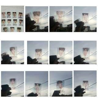 wanna one showcon transparent photocard
