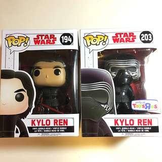 Kylo Ren Funko Pop Set Of 2