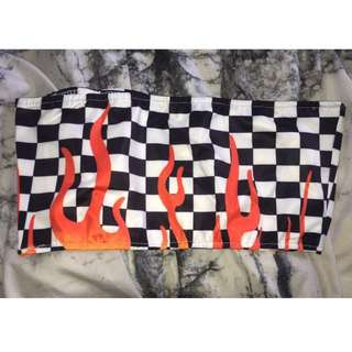 Flame Bandeau Crop SMALL