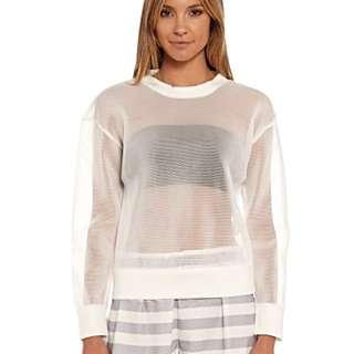 SALE Staple The Label Size S White Mesh Sweater