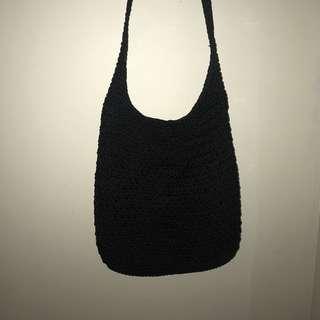 Black festival side bag