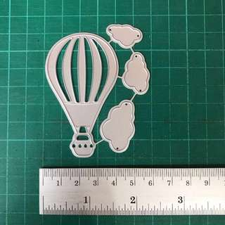 Hot air balloon and clouds scrapbooking cutting die