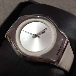 REPRICED PHP2.5K Unisex Police Platinum White Watch (orig)