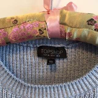 TOPSHOP light blue sweater / cropped jumper