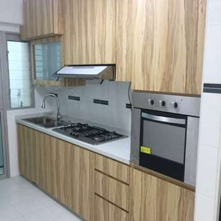 Carpentry for kitchen cabinet